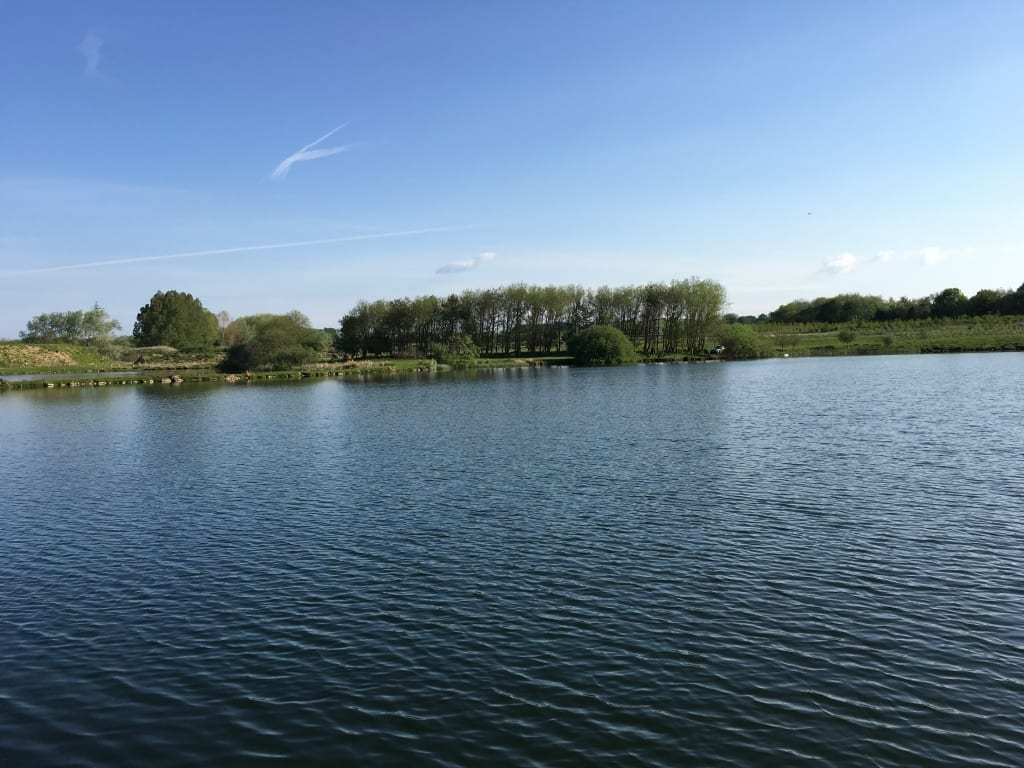 View across Jimmy's Lake Borwick Fishing