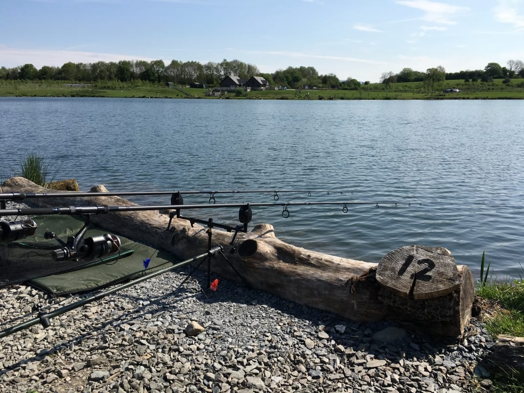 Comfy pegs @ Borwick Fishing