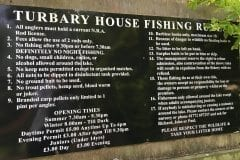 Turbary House garden centre, Fishing rules
